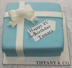 21st Birthday Tiffany Cake