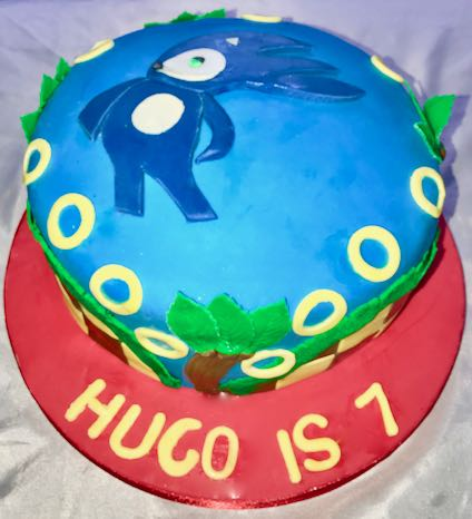Sonic 7th Birthday cake