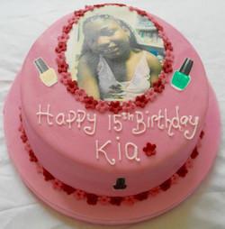 15th Birthday make up cake