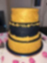 3 tier baroque wedding cake