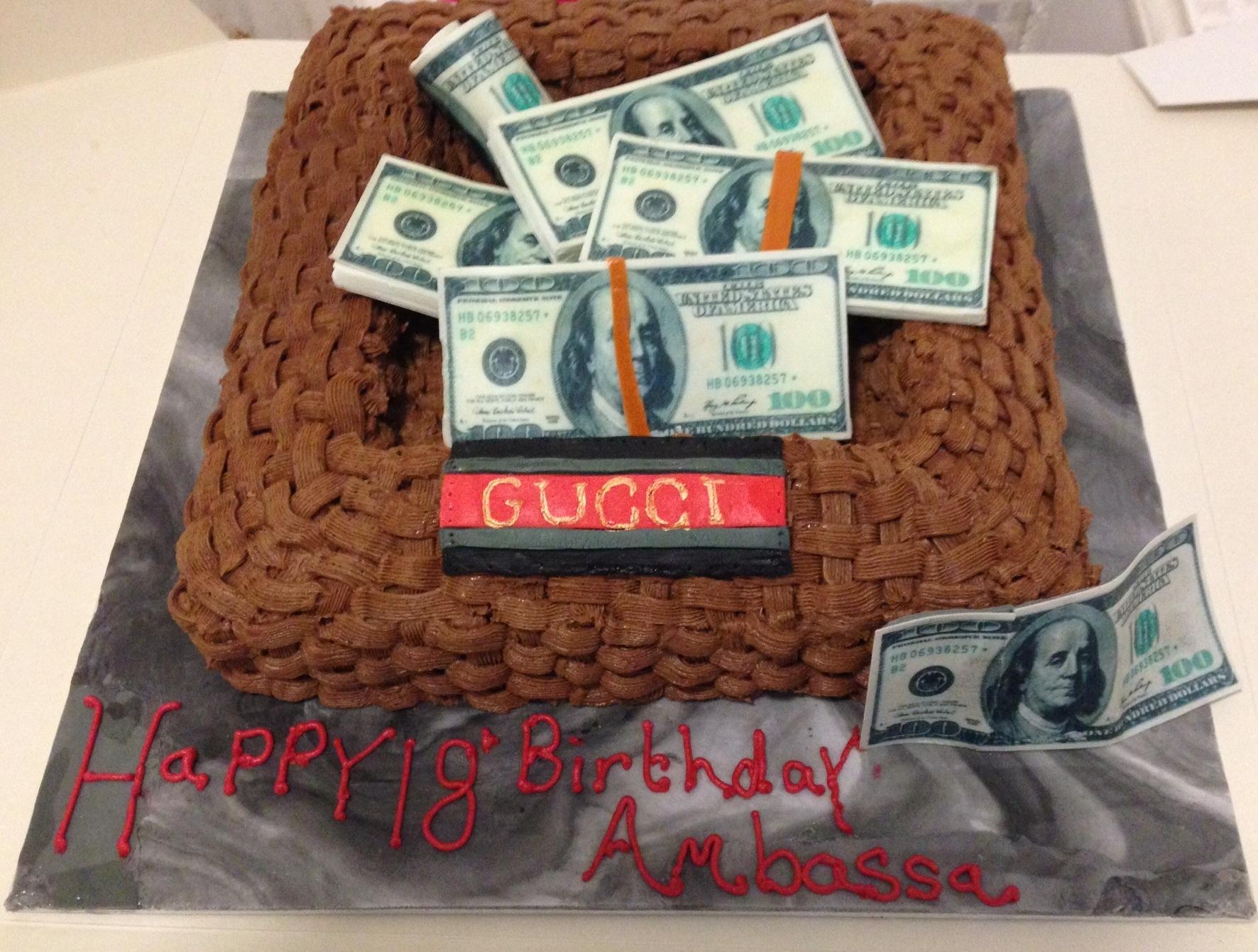 Gucci Money Basket 18th Birthday Cake