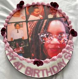 Photo 40th Birthday Cake