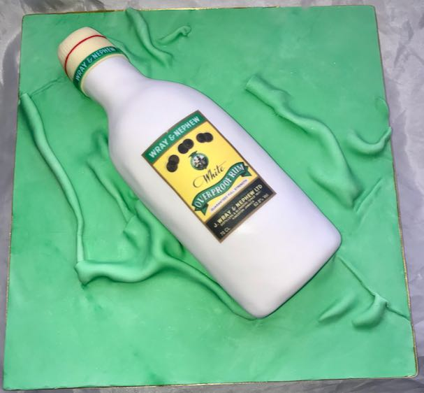 Wray & Nephew bottle cake