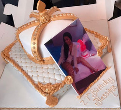 Crown & Cushion Birthday Cake
