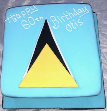St Lucia flag cake