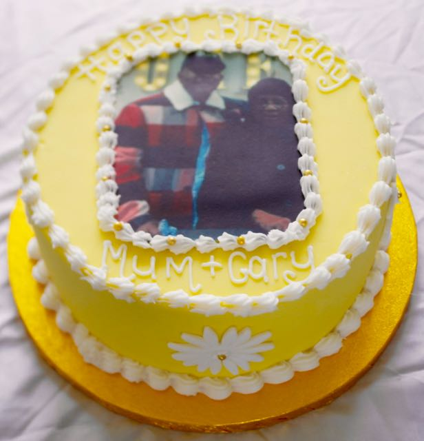 Photo rum birthday cake