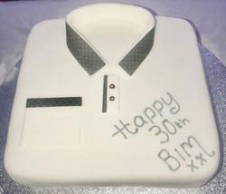LV Shirt 30th Birthday cake