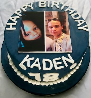 18th Birthday photo cake