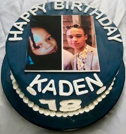 18th Birthday photo cake