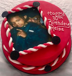 30th Birthday Photo Cake