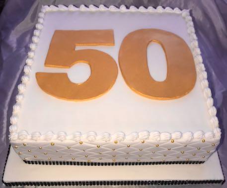 50th Anniversary Rum Cake