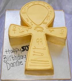 Ankh 50th Birthday Cake