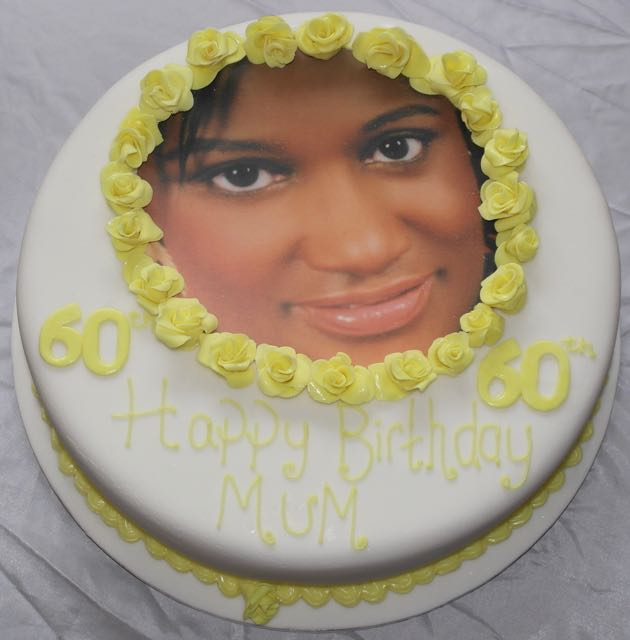 60th Birthday Photo Cake