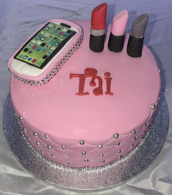 Mobile phone birthday cake