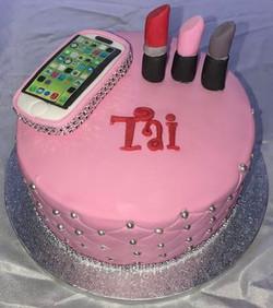 Mobile phone birthday cake