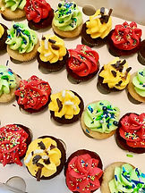 colourful caribbean cupcakes