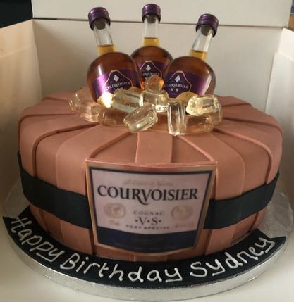 courvoisier birthday cake