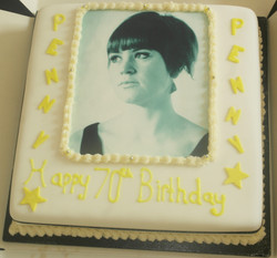 70th Birthday Photo Cake
