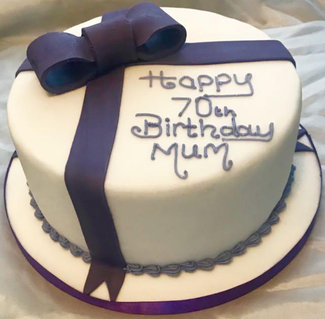 70th Birthday Cake for Mum
