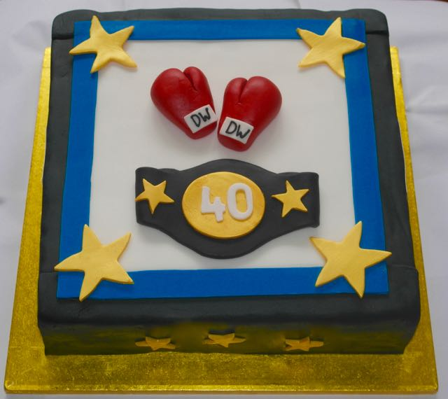 Boxing Themed 40th Birthday Cake