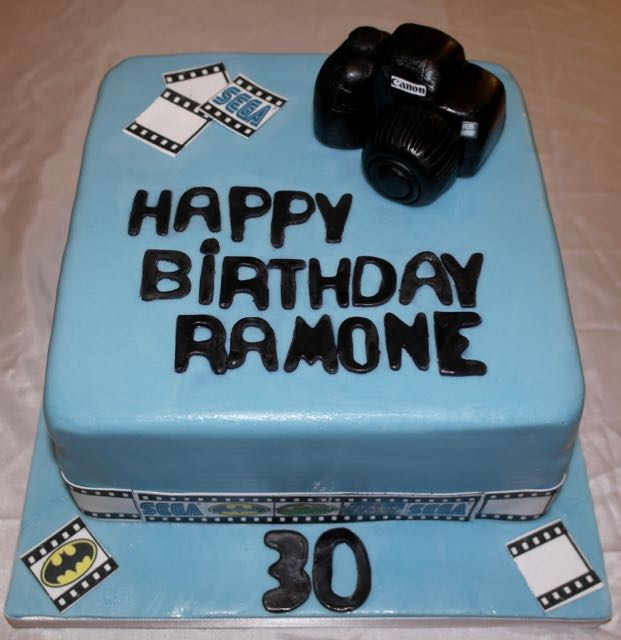 Camera Themed 30th Birthday Cake