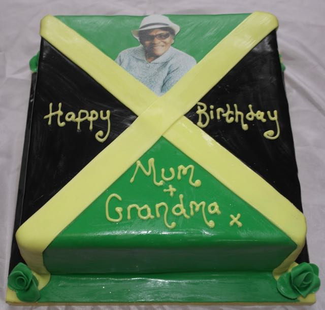 Jamaica Flag Birthday Cake