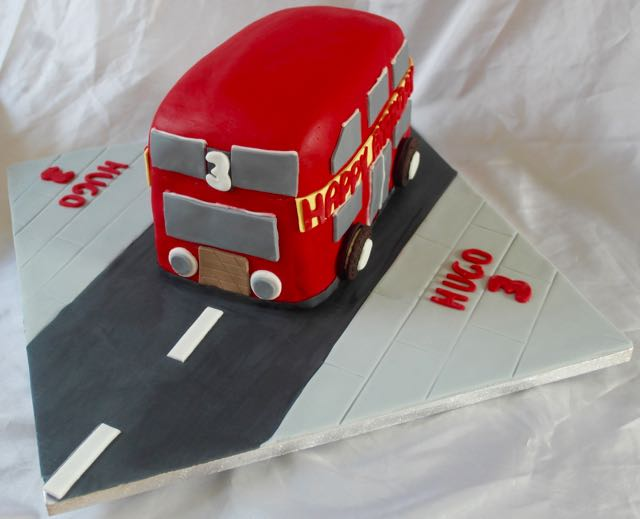 Bus 3rd Birthday Cake