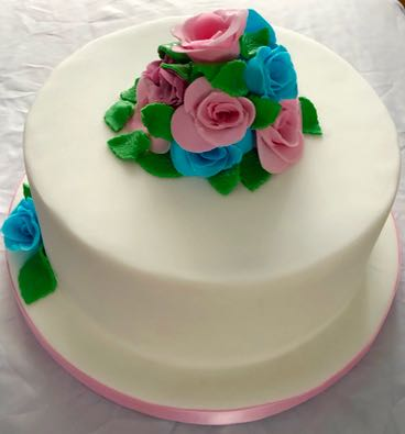 floral birthday cake