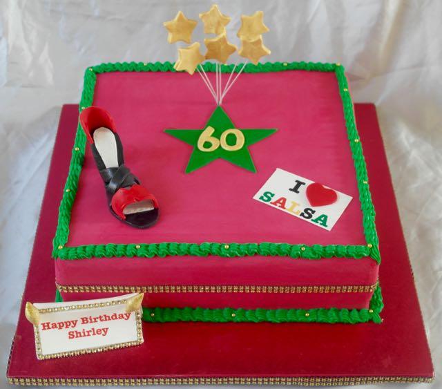 Salsa Themed 60th Birthday Cake