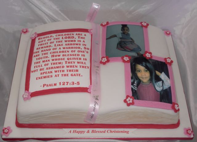 Photo Image Bible Cake