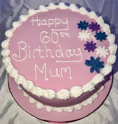 60th Birthday cake for Mum