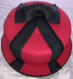 Black bow cake