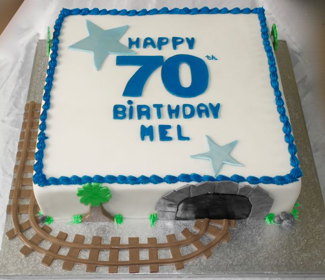 70th Birthday Railway Cake