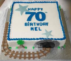 70th Birthday Railway Cake