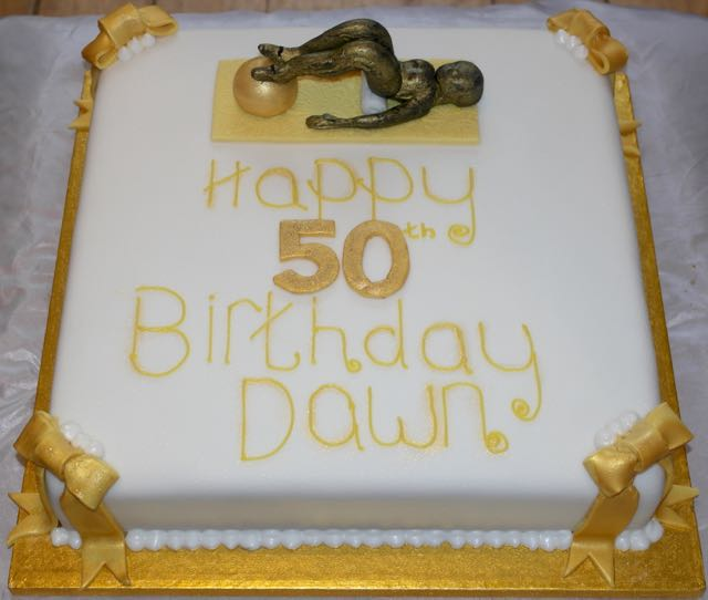 Pilates 50th Birthday Cake
