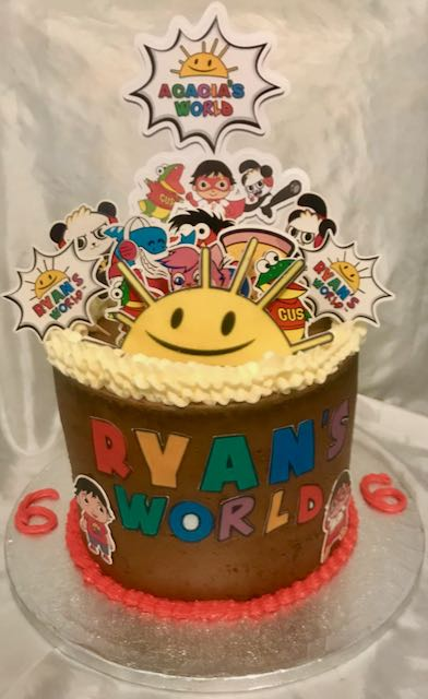 Ryan's world birthday cake