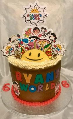 Ryan's world birthday cake