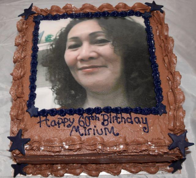 60 Birthday Photo Cake