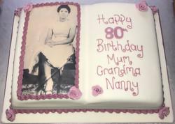 80th Birthday Bible Cake