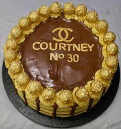 Chanel 30th Birthday Chocolate Cake