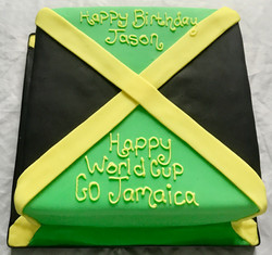 World Cup Jamaica Flag Cake