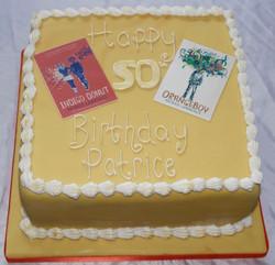 50th Birthday book jacket cake