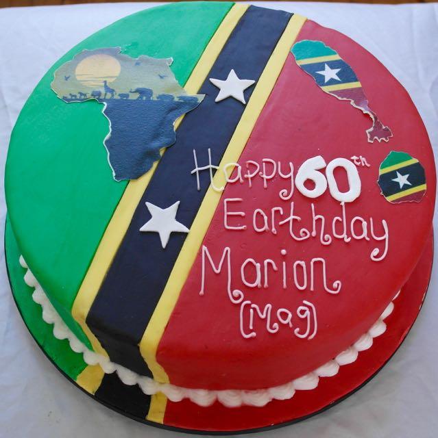 Africa & St Kitts Cake