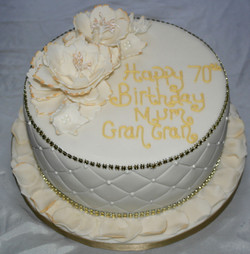 70th Birthday large flowers Cake