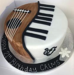 Music birthday cake