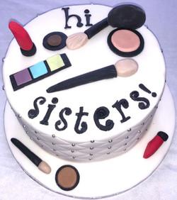 Hi Sisters make up cake