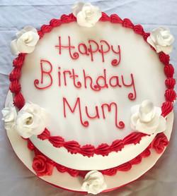 White Flowers Birthday Cake