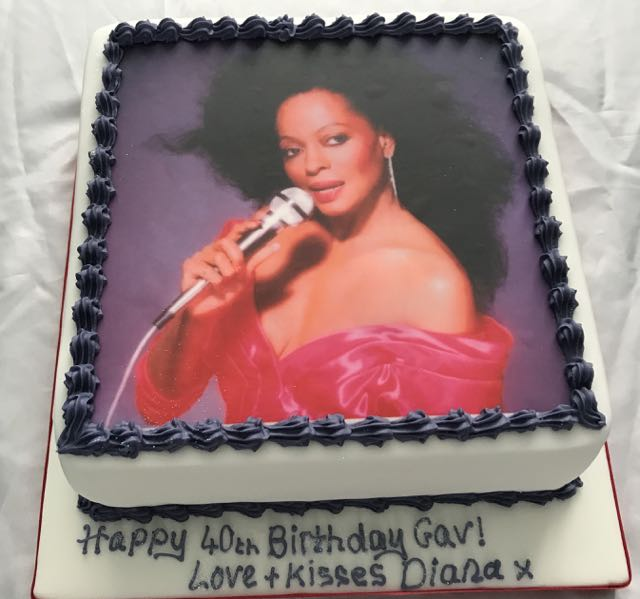 Diana Ross 40th Birthday Cake