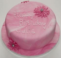 Pink Swirl Birthday Cake
