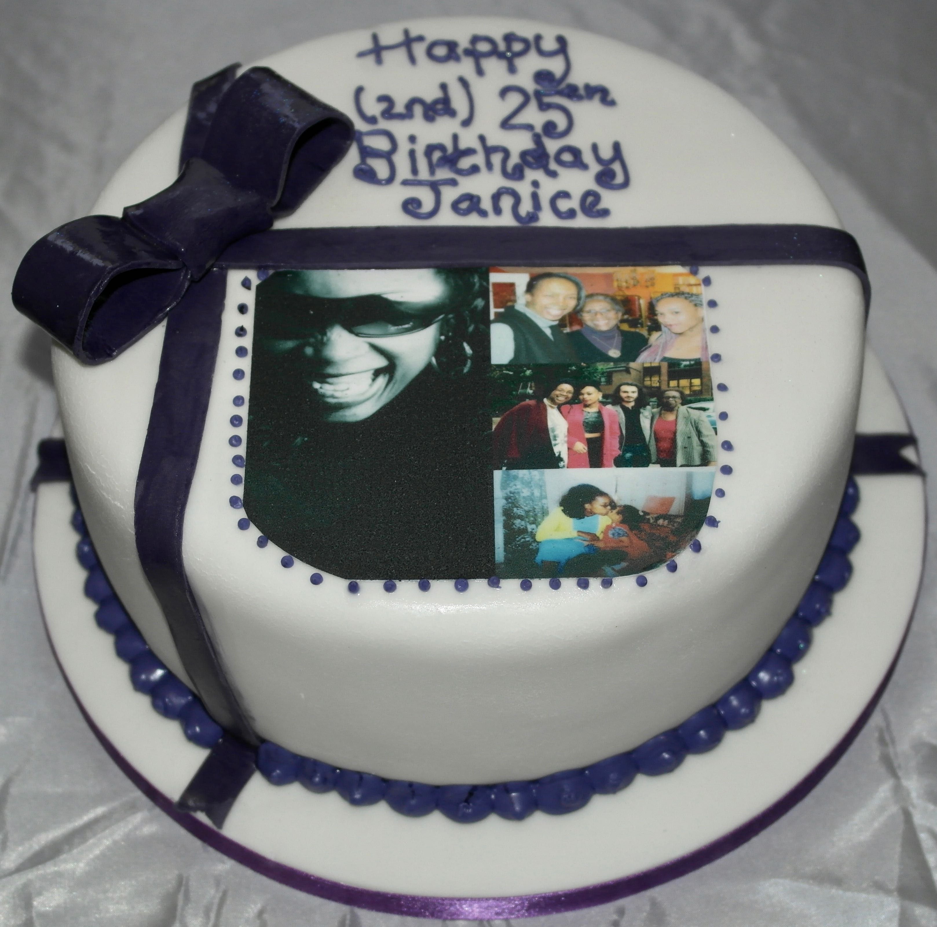 50th Birthday Photo Cake